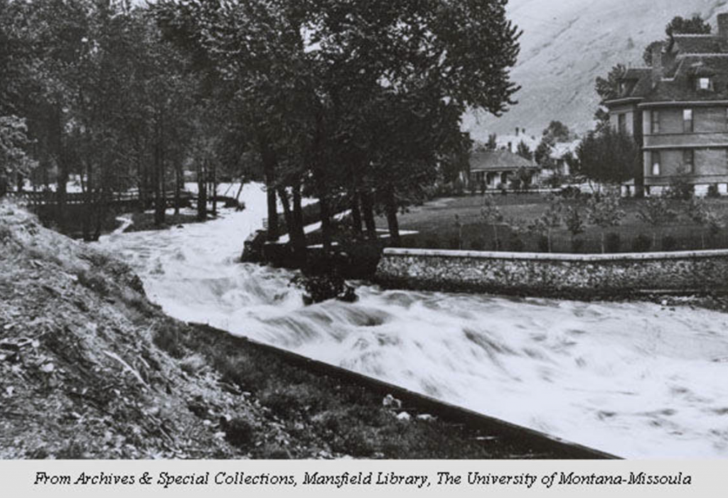 During the flood of 1908